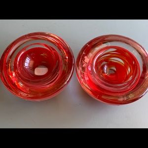 Solid Glass Tealight Candle holders